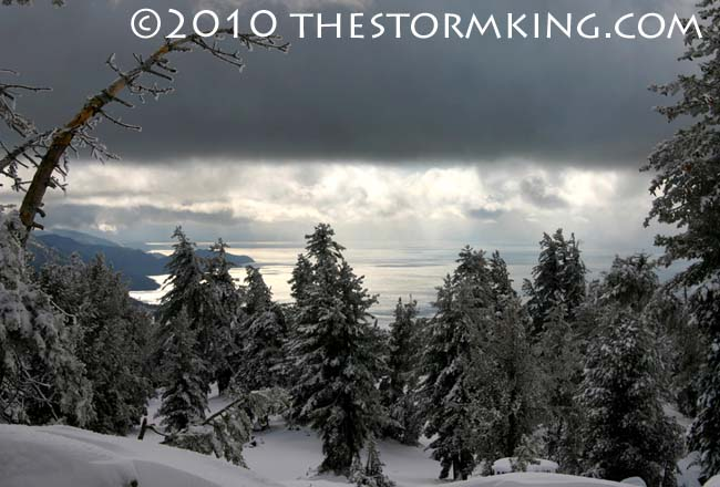 Nugget #195 Dec Storm Tahoe View